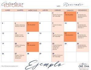 ejemplo de calendario editorial